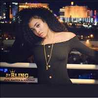 Rope chain beautiful model in Las Vegas - Hip Hop Bling