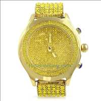 Lemonade Blizzard Bling Bling Watch & 6 Row Iced Band