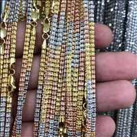Gold three tone diamond cut chains, 10K majesty of ice - Hip Hop Bling