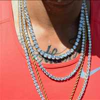 Tennis chains on point! Bling jewelry for sale Hip Hop Bling