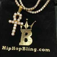 Iced out Ankh pendant for sale from Hip Hop Bling