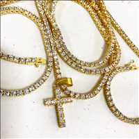 Tennis Chain and Pendant Set, iced out jewelry for SALE!