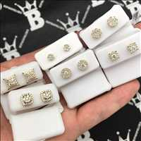 14K iced out diamond earrings, the absolute illest pieces for sale online - Hip Hop Bling