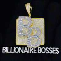 Billionaire bosses custom pendant made by the legends at HipHopBling.com