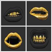 Livin' the gold standard, lovin it. Hip Hop Bling