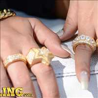 Ice up your fingers, new bling bling rings at Hip Hop Bling
