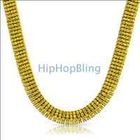 Canary Lemonade Iced Out 4 Row Necklace