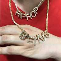 Mini Block Bling Bling Pendants Hip Hop Bling