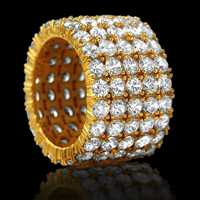 Engagement ring drippin with 100 diamonds - Hip Hop Bling