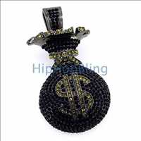 The money you can save at Hip Hop Bling is in your 3D Money Bag Pendant