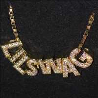 Custom Diamond Initials Available From Hip Hop Bling