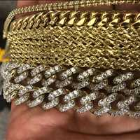 Solid gold chains, turn up in fire gold pieces from Hip Hop Bling