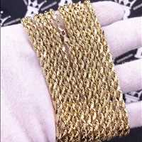 French rope chains made of solid gold perfect for all the hustlers out there - Hip Hop Bling