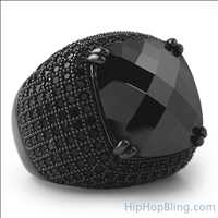Black Bling Bling Rings