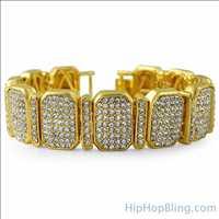 Gold Bling Bling Octane Bracelet