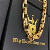 3D Box Chain 1500-2000 Bling Bling Chain From Hip Hop Bling
