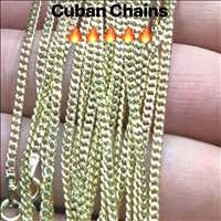 10K Solid Gold Cuban Chains, absolute FIRE. - Hip Hop Bling