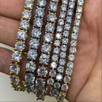 FIRE Iced Out Tennis Bracelets For Sale From Hip Hop Bling