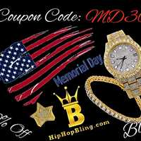 Coupon Code MD30, continue to save from our Memorial Day Sale on HipHopBling.com