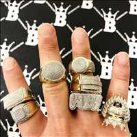 10K gold diamond rings and premium iced out jewelry from Hip Hop Bling