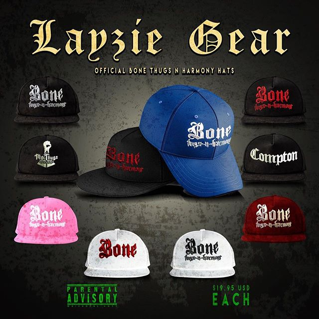 New Hats available at Layzie Gear- Bone Thugs n Harmony hats