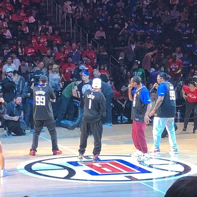 Bone Thugs n Harmony half time show at tha LA Clippers Staples Center game