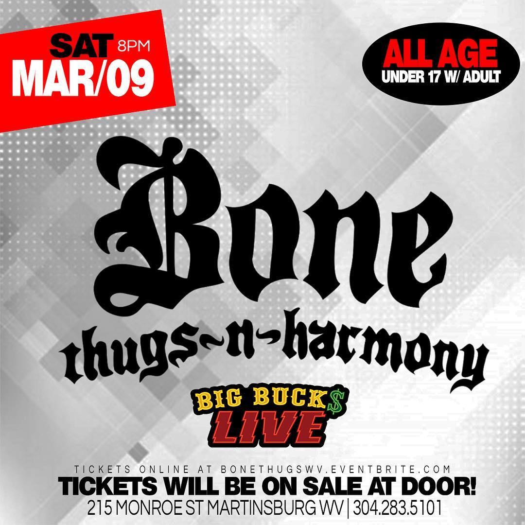 Big Buck Live March 9th Bone Thugs N Harmony - Layzie Gear