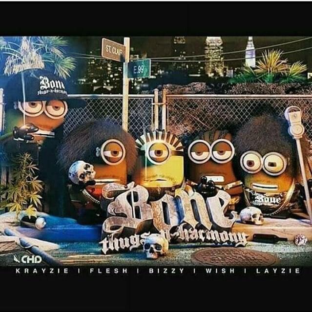 Bone Thugs N Harmony Minions, love it - Layzie Bone