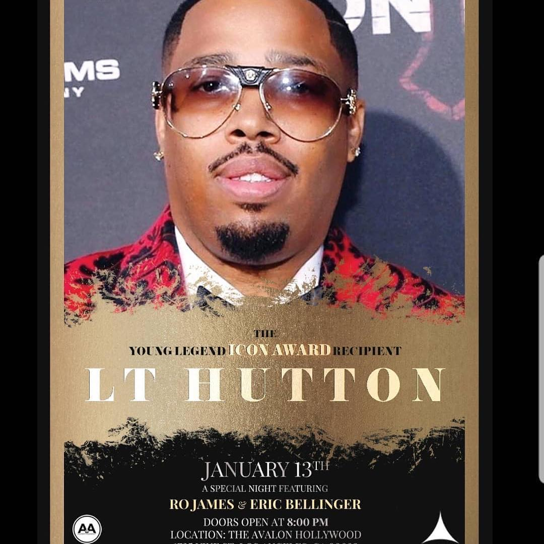 Grats to LT Hutton on receiving the Young Legend Icon award
