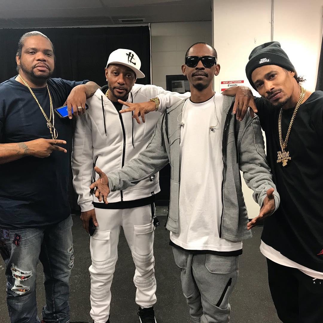 Bone Boyz backstage at the Puff Puff Pass tour - Layzie Bone