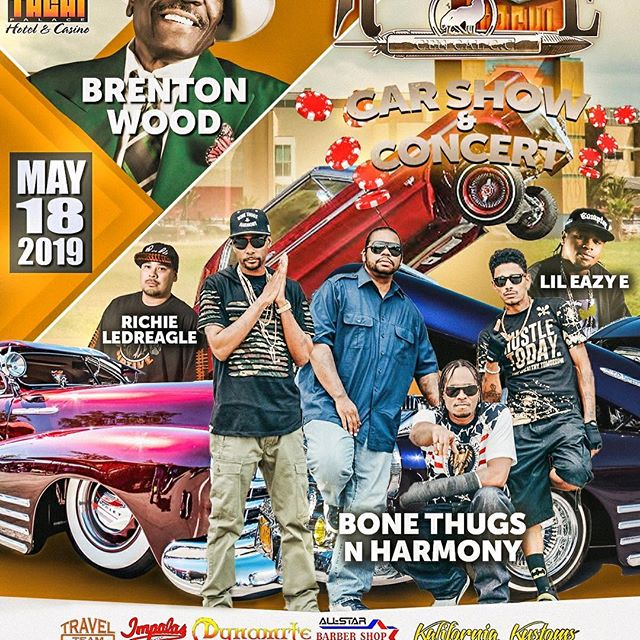 See you all there at the Car Show and Concert, May 18th! - Layzie Bone