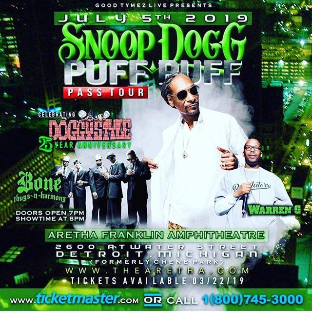 Puff Puff Pass tour, lets goooo Detroit - Layzie Bone