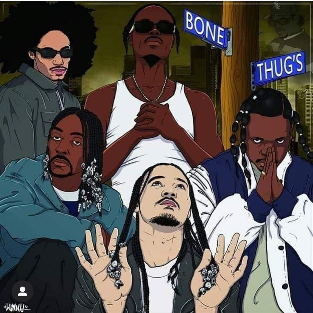 Five true Thugs from the double Glock - Bone Thugs n Harmony - Layzie Bone