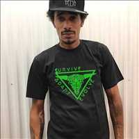 Layziegear hat and Surviveadaptevolve shirt - Layzie Bone