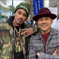 Ran into another G at the NAMM Show, keep it real my brother - Layzie Bone