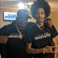 Big cuz and I repping that Annihilation merch, coming in HOT - Layzie Bone