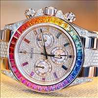 Beautiful rainbow diamond watch, this piece is lit - Layzie Bone