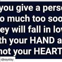 Forget those who fall in love with your hand instead of your heart - Layzie Bone