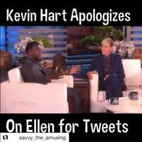 Kevin Hart Apologies on Ellen
