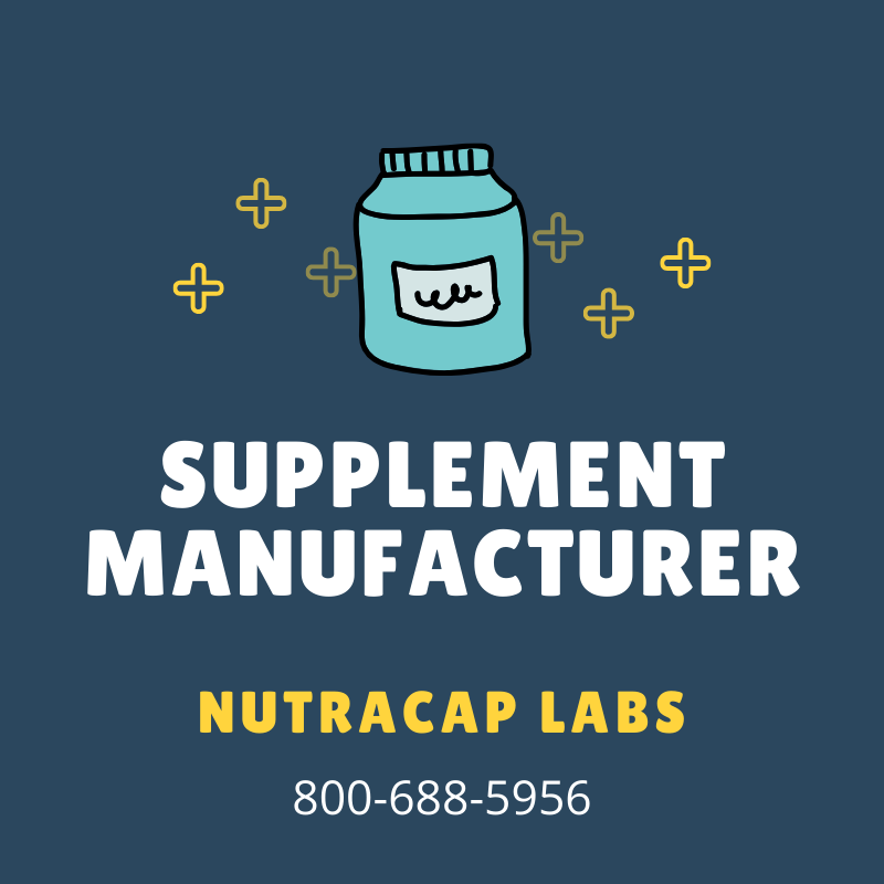Start Private Label Supplement Manufacturing with NutraCap Labs 800-688-5956