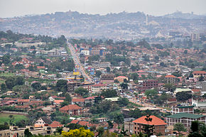 Kampala, the largest city in Uganda.