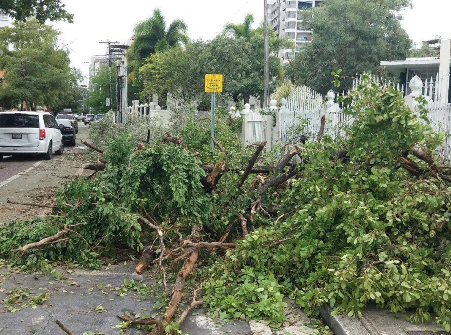 Hurricane Irma Causes Power Loss Across Puerto Rico Photo: Rachel Gikas, Condado