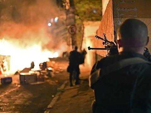 Riots in Rio, Brazil