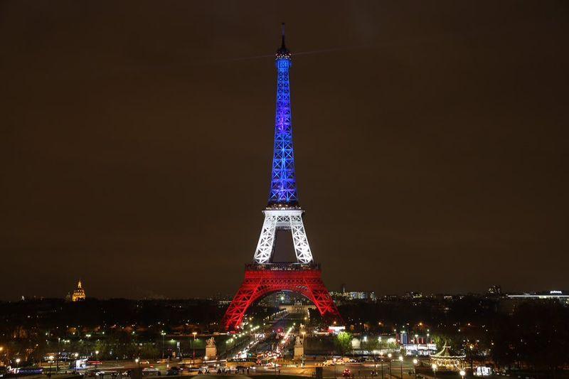 Eiffel Tower, France Flag