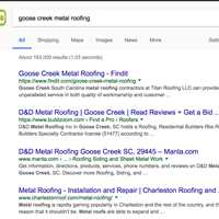 One of Titan Roofing LLC's Findit Keyword URLs Indexing at top in Google
