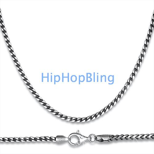 Franco  925 Sterling Silver Rhodium Chain 4 5mm 36 Inches