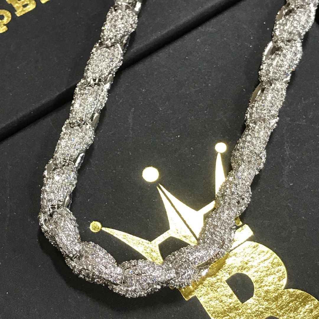 925 Silver sterling rope chains, all the diamonds all the drip - Layzie Bone