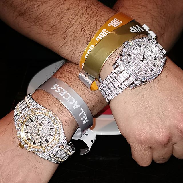 What time zone are you in at the moment? Use iced out watches from Hip Hop Bling and represent