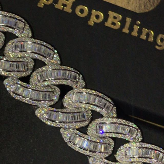 Baguettes Hand Set on 925 Sterling Silver. Classic has been a best seller for 3 Yrs Hip Hop Bling