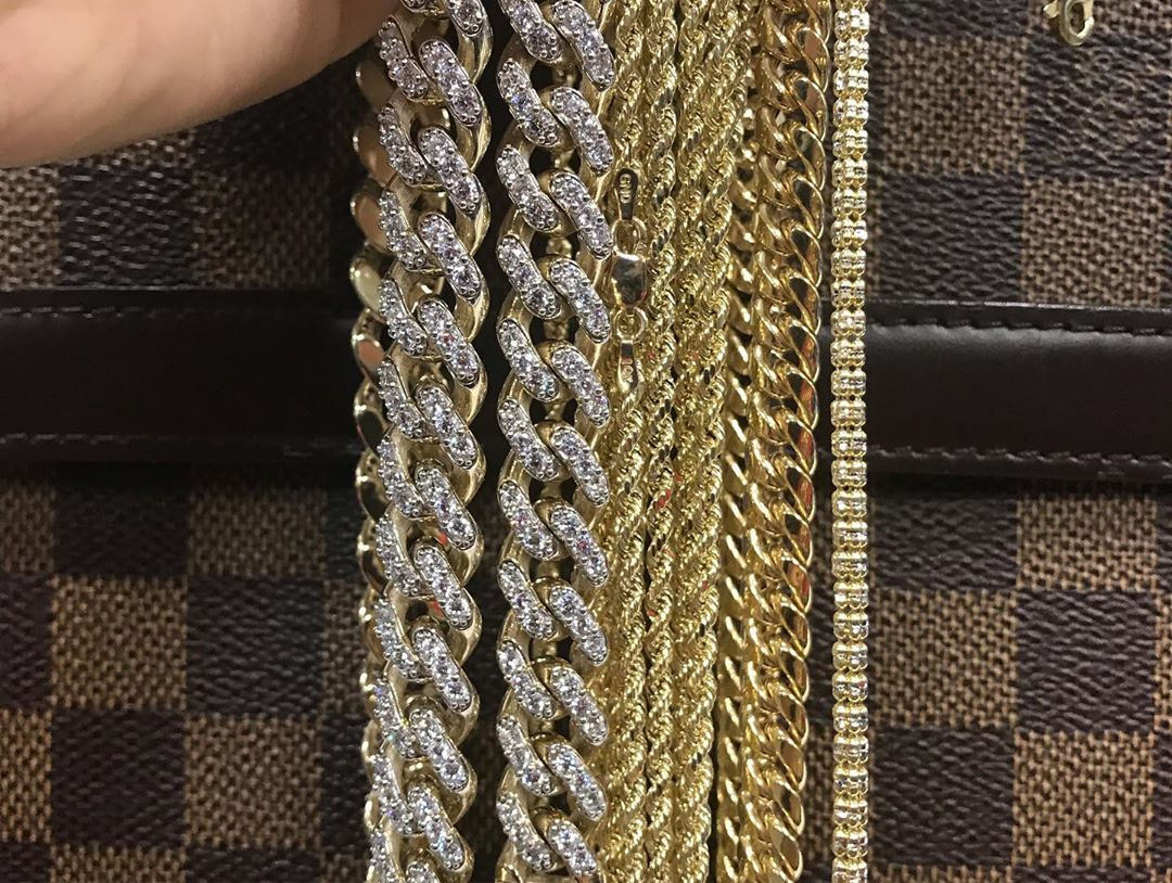 Drench yourself in diamonds and gold, fire new chains from Hip Hop Bling